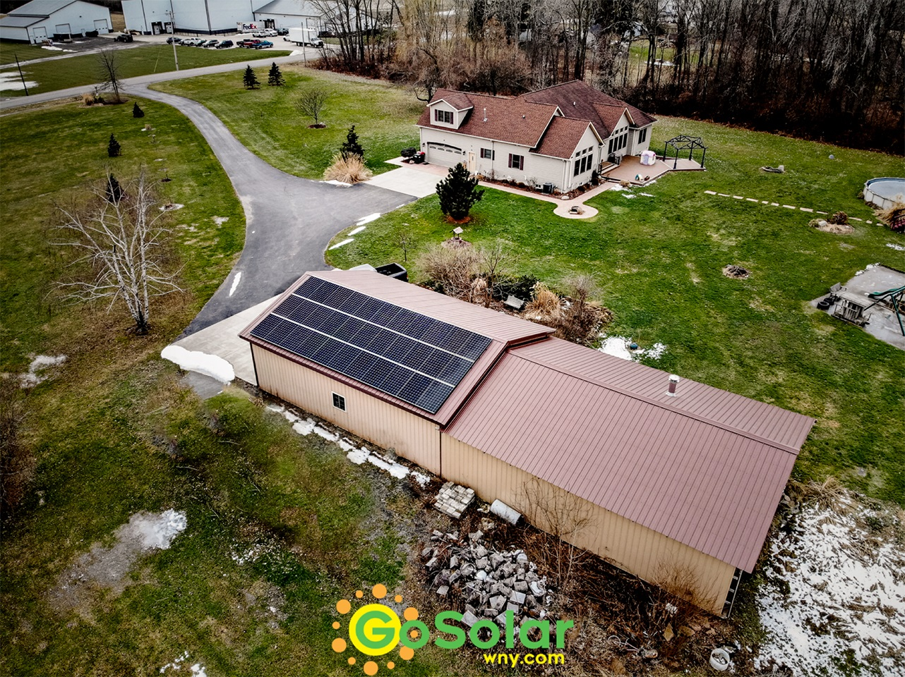 Panasonic Solar Panels on Steel Roof Barn in Middleport, NY